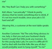 This Mom Joined In When Her Son Tried To Talk Down To The Waiter. But Is Dumbfounded When Another Customer Did This.