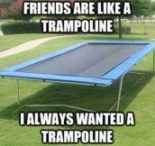 Friends Are Like A Trampoline