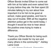 Five-Year-Old Boy Never Expected THIS When He Tried Talking To A Police Officer. Wow.