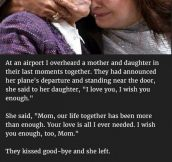 Woman Notices Mom Crying For Her Daughter At The Airport. But Never Thought She'd Confess This To Her.
