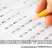 We've All Done This During A Test