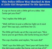 This Police Officer Was Shocked At How A Little Girl Responded To His Question.