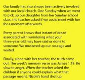 Sunday School Teacher Shocks Parents When She Says This About Their Daughter.