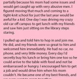He Had To Move Many Times As His Mom Would Get Caught Up In Abusive Relationships. But Couldn't Believe It When This Happened.