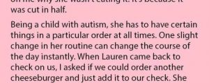 Woman Tried To Order For Her Autistic Sister, But Was Stunned When The Waitress Reacted Like This