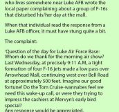 Man Complains About Four Military Jets 'Ruining' His Day At The Mall. But The Response He Receives Is Priceless.