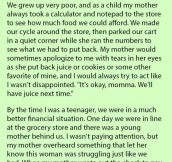 This Poor Mom Always Took A Calculator To The Store To See How Much Food They Could Afford. What She Did A Few Yrs. Later Is Priceless.