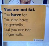 Listen, You Are Not Fat