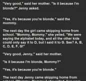 Blonde Girl Thinks She's Smarter Than Her Classmates. This Is Gold.