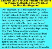 This Poor Little Boy Cried When He Was Teased For Wearing Old Baseball Shoes To School. But Then This Happened.
