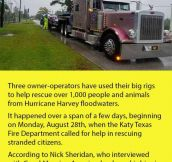 Three Truckers Drove Into Houston And Saved 1,000 People.