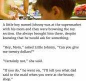 Kid Tells Mom He'd Tell Her A Secret About Dad If She Gave Him $20. What Followed Is Gold.