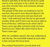 This Cowboy Had The Best Response When Someone Took His Horse.