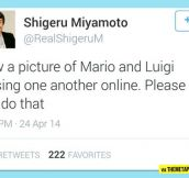 Shigeru Miyamoto Request To The Internet