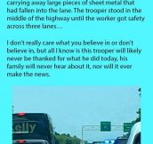 A Woman Wrote This Online After A Police Officer Suddenly Stopped In Busy Traffic.