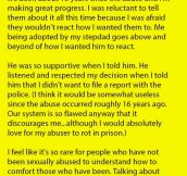 She Told Her Step-dad That Her Real Father Had Sexually Abused Her As A Child. But Is Shocked With His Response.