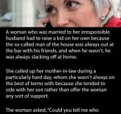 Her Mother-In-Law Always Talked To Her Condescendingly. So What She Did One Night Is Priceless.