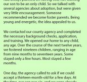 Woman Is Asked To Foster A 13 Month Old Girl For Two Days. But Never Knew This Would Happen When She Showed Up.