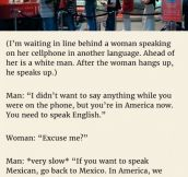 Man Starts Berating Her Out Of Nowhere & Tells Her To Go Back To Her Native-country. But Her Reply Is Priceless.