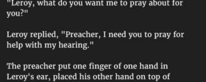 Preacher Is Unfazed When A Man Makes This Audacious Request. But The Reality Is Priceless.