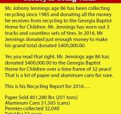 This Guy Collected Bottles For Over 30 Years. What He Did With The Money Is Going Viral.
