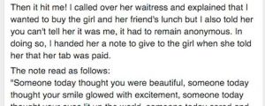 Man Notices Woman Trying To Hide Something At A Restaurant. What He Told The Waiter To Do Is Priceless.