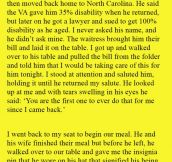 He Approached A Disabled Veteran Who Was Eating With His Wife, But Was Stunned When He Did This