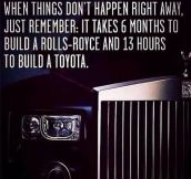 If You Notice Things Don't Happen Right Away