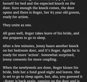 The Strangest Wedding Night Ever. This Man Is A Hero.