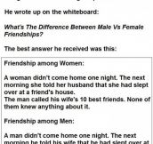 Male Vs Female Friendships. This Guy Nails It.