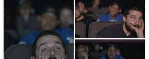 Shia LaBeouf Watching Transformers
