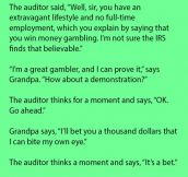 Grandpa Challenges IRS Auditor During An Audit. Oh No!