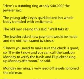 White Haired Man Went Into A Jewelry Store Looking For A 4000$ Ring. This Is Amazing.