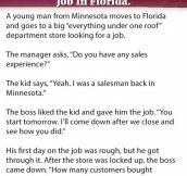 Funny Story: Young Minnesotan Shocks His Boss At His New Job In Florida