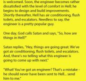 An Engineer Was Sent To Hell By Mistake. Devil's Remark Is Hilarious.