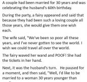 This Married Man Wished For Something He Shouldn't Have. This Is GOLD.
