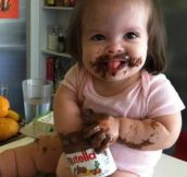 Well, That's One Way To Eat Nutella