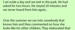 Girl's Father Left When She Was Four Years Old. Her Mom Was Shocked When She Said This.
