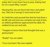 Woman Scoffed At This Child's Prayer, But His Response Was Priceless.