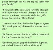 A Nun Swears Loudly On The Golf Course. But Her Explanation Why Is Pure Gold.