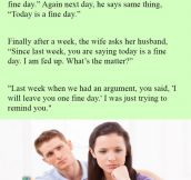 Husband Starts Acting Strange Towards Wife When She Asks Why He Says This.