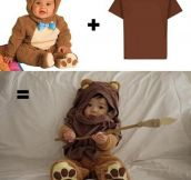 Simple Bear Costume + Brown T-shirt = Awesome
