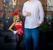 Yao Ming And A Playboy Bunny Size Comparison