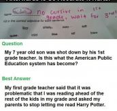 7 Year Old Gets Shot Down By Teacher, This Guy's Response Is So Accurate It Hurts.