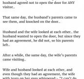 Married Couple Decides Not To Open The Door On Their First Day. But Then This Happened.
