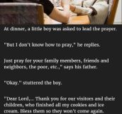 Kid Warns Family He Didn't Know How To Pray. But What He Said Next Is Hilarious.