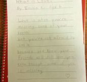 A Child's Definition Of Love