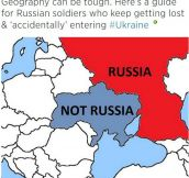 Geography Lesson For Russian Soldiers