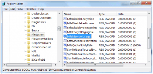 memory size3 How to: Increase The FileSystem Memory Cache Size To Speed Up Windows 7