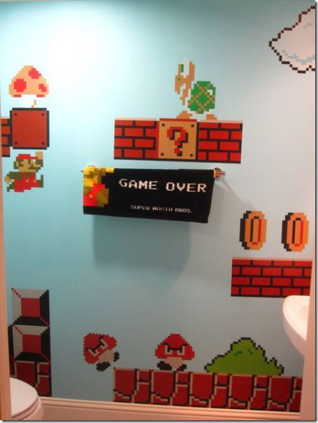 clip image007 thumb1 Girl Makes a Super Mario themed Bathroom